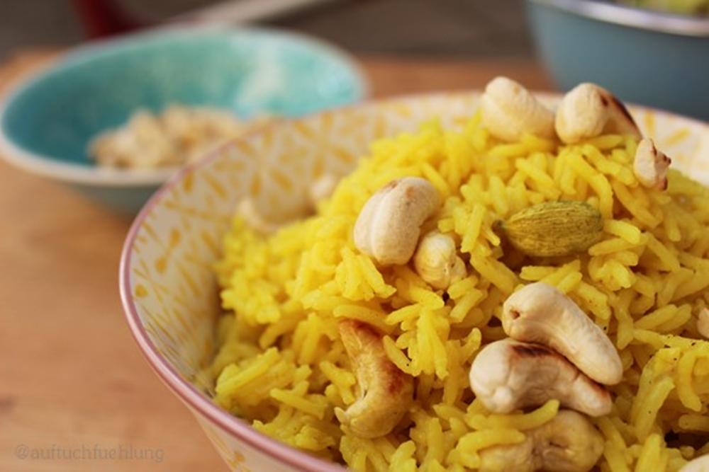Leckerster Curry Reis mit Cashewkernen