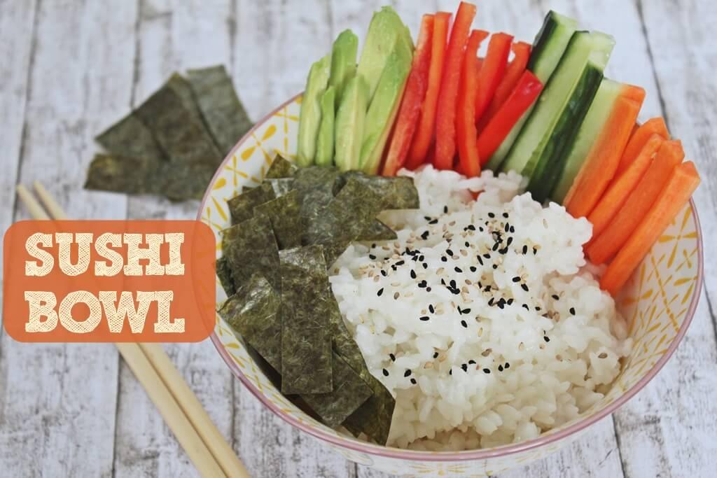 Farbenfrohe Sushi Bowl