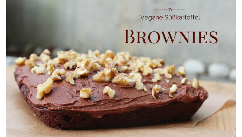 Süßkartoffel Brownies mit unglaublich schokoladigem Frosting