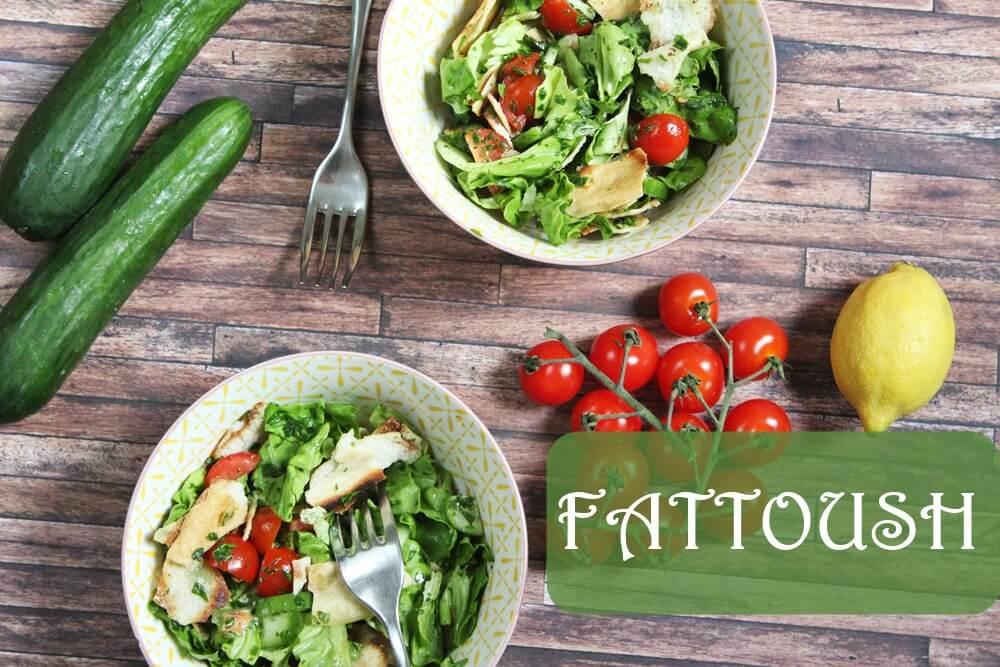Fattoush – Syrischer Salat mit Fladenbrot