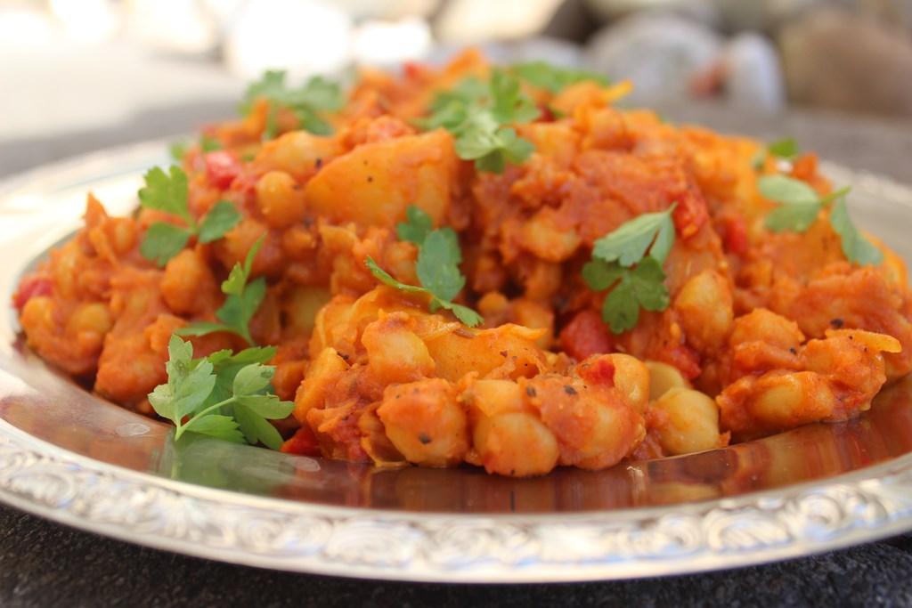 Einfaches indisches Kichererbsen Curry