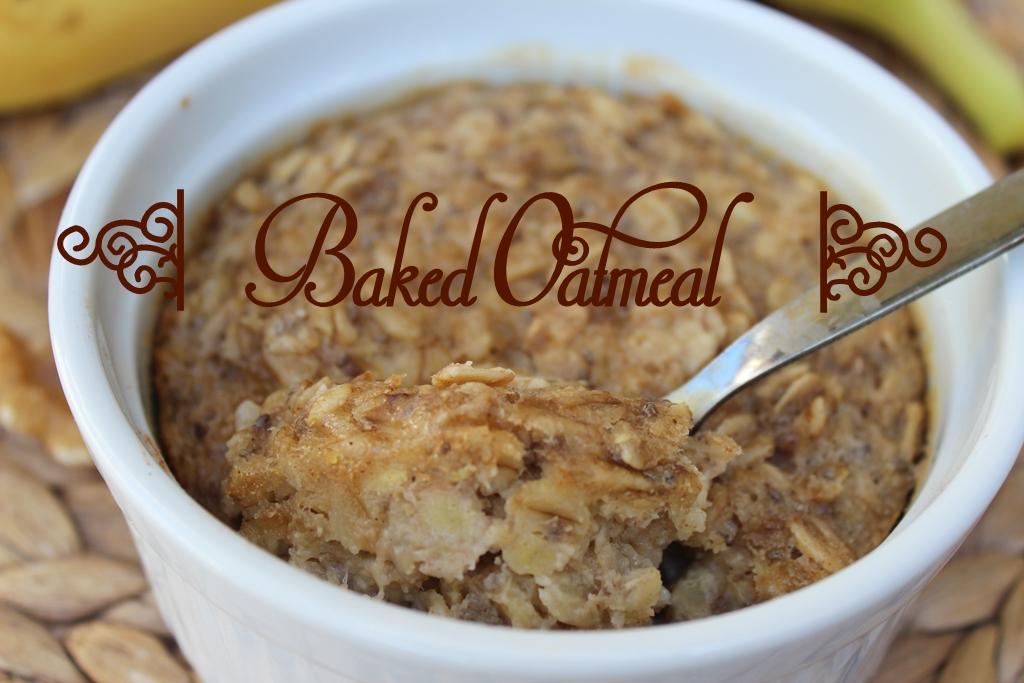 Baked Oatmeal mit Banane und Walnuss